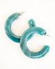 Machete Kate Jadeite Hoop Earrings