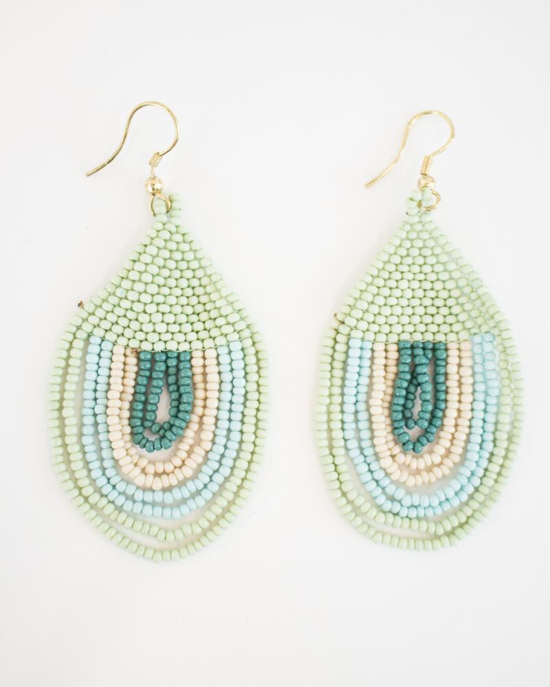 Mint Block Sunset Earrings