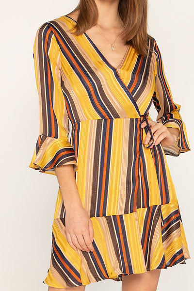 Multistripe Yellow Dress