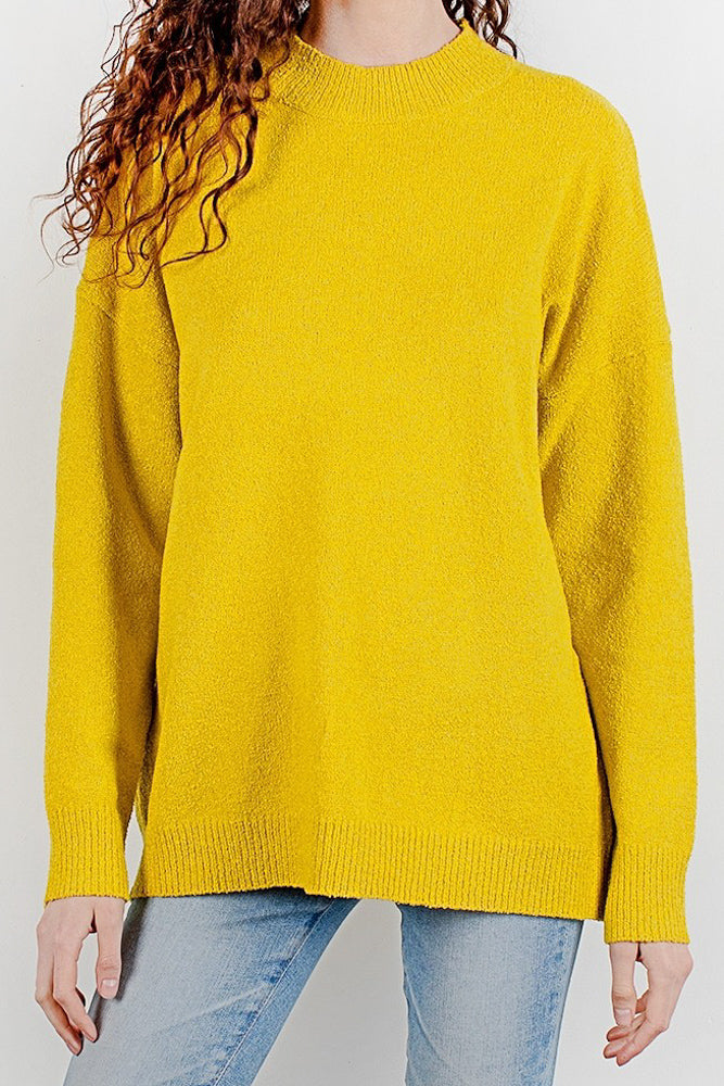 Mikay Chartreuse Sweater