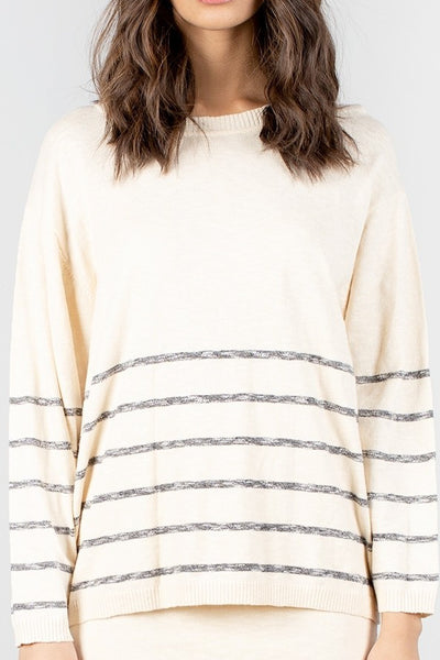 Stripe Natural Knit Top