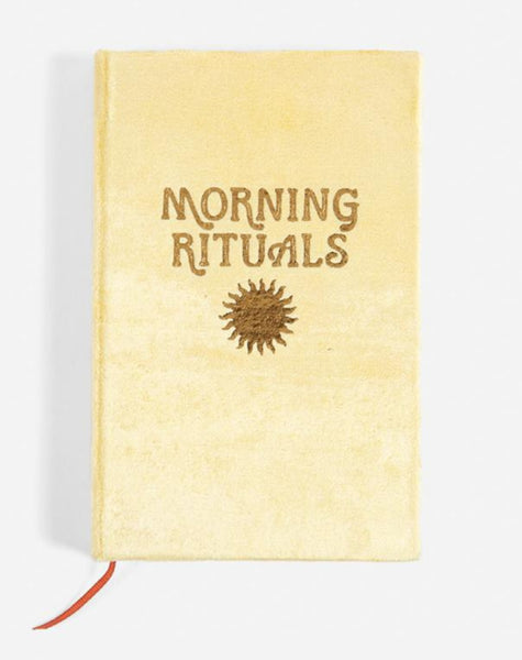 Morning Rituals Gold Velvet Journal
