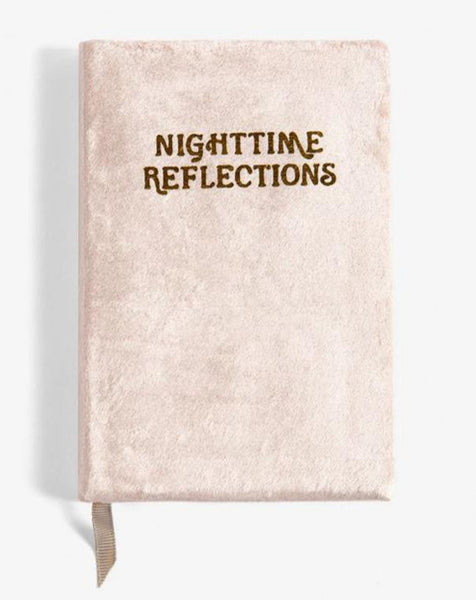 Nighttime Reflections Blush Velvet Journal