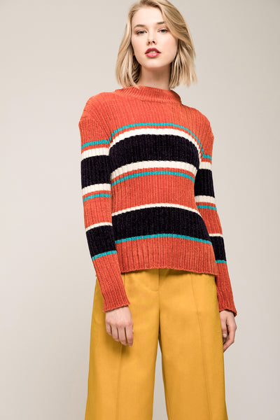 Striped Chenille Sweater