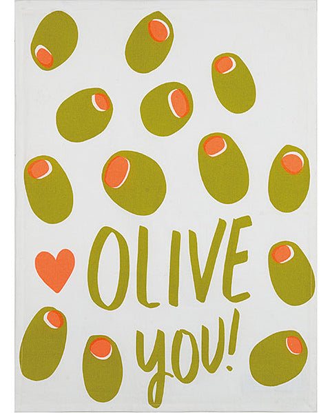 Olive You Kitchen Towel