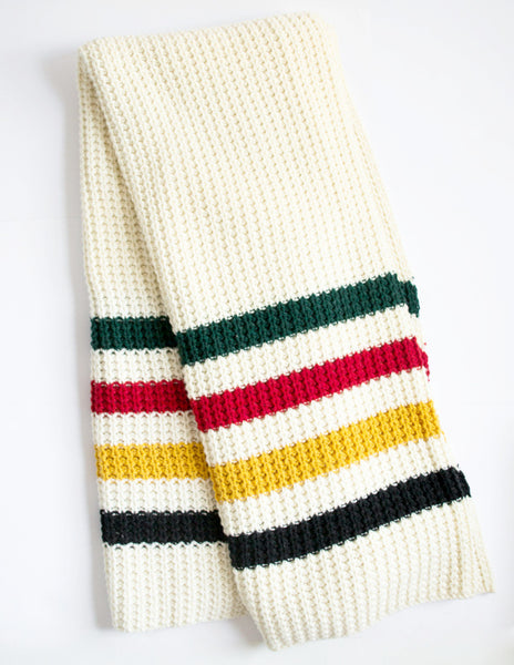 Classic Stripe Cable Knit Throw