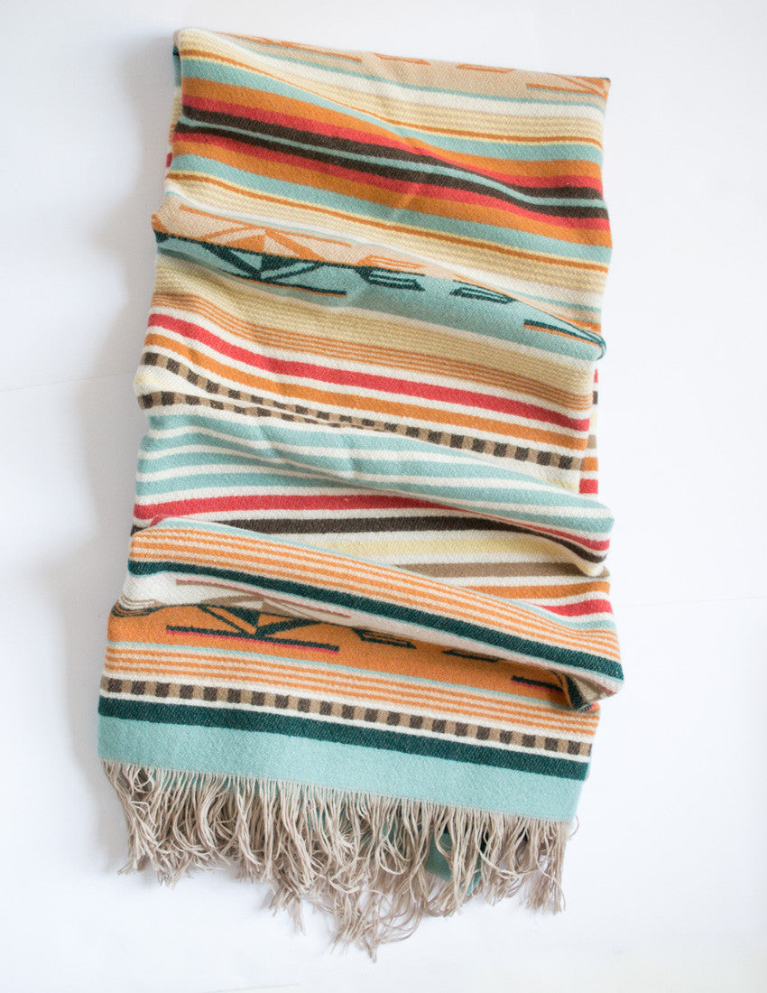 Coral Chimayo Throw