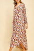 Floral Long Sleeve Maxi Dress