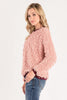 Fuzzy Blush Sweater
