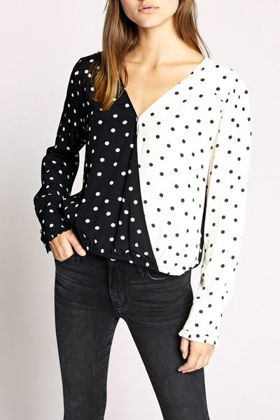 Cori Half and Half Wrap Blouse