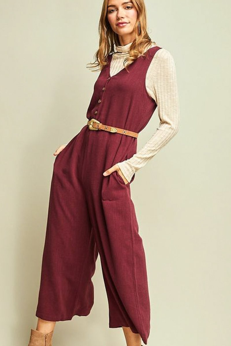 Wine Playsuit