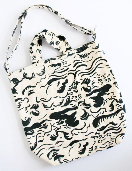 Graphic Cloud Canvas Tote