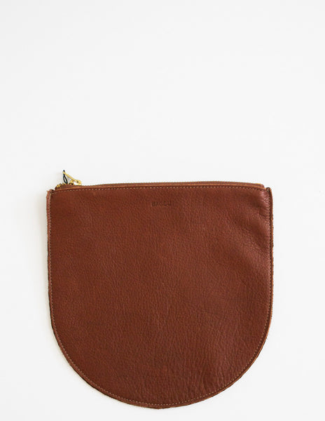 Chestnut Leather U Pouch