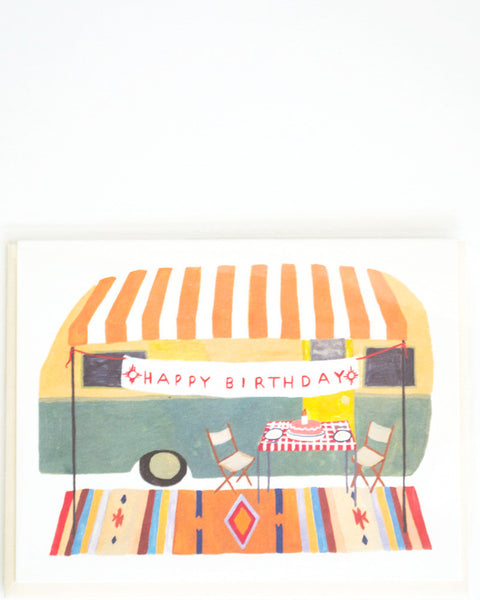 Vintage Camper Birthday Card