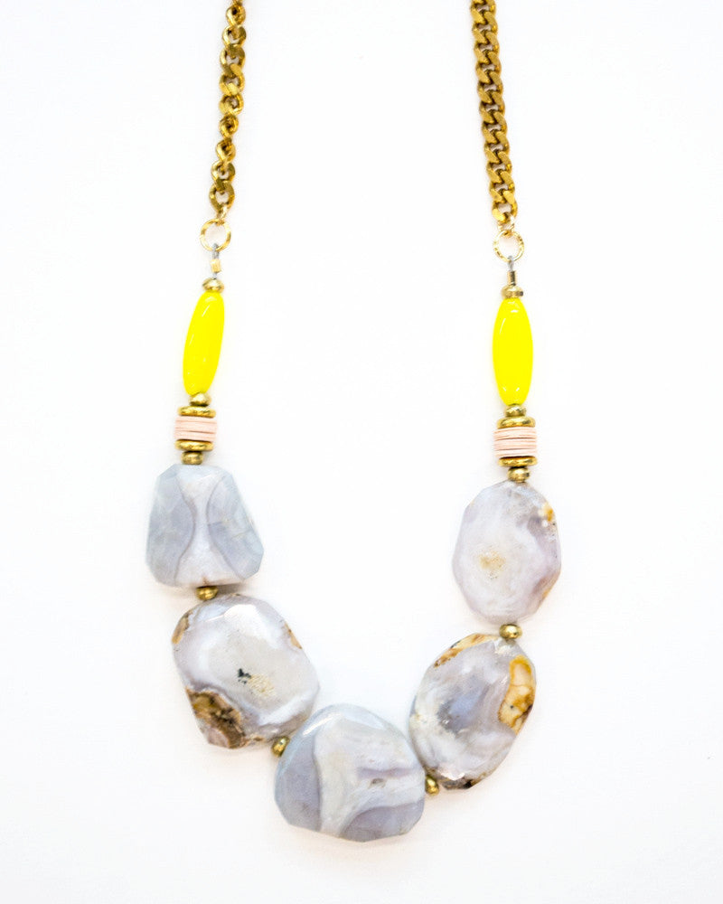 Lilac Chalcedony Necklace