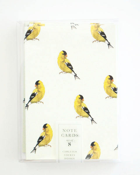 Goldfinch Thank You Cards - Set of 8