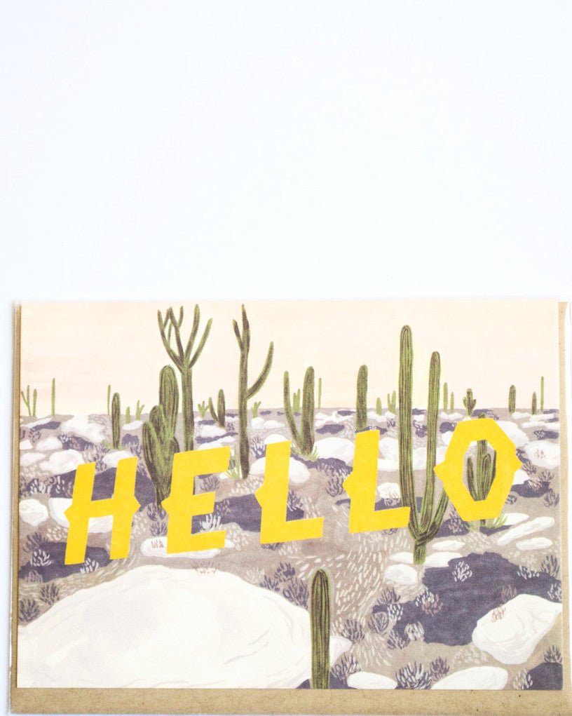 Yellow Hello Card