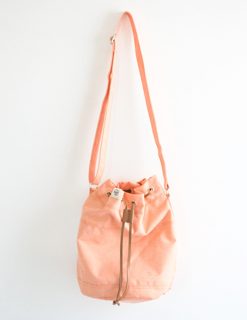 Peach Carlow Bucket Bag