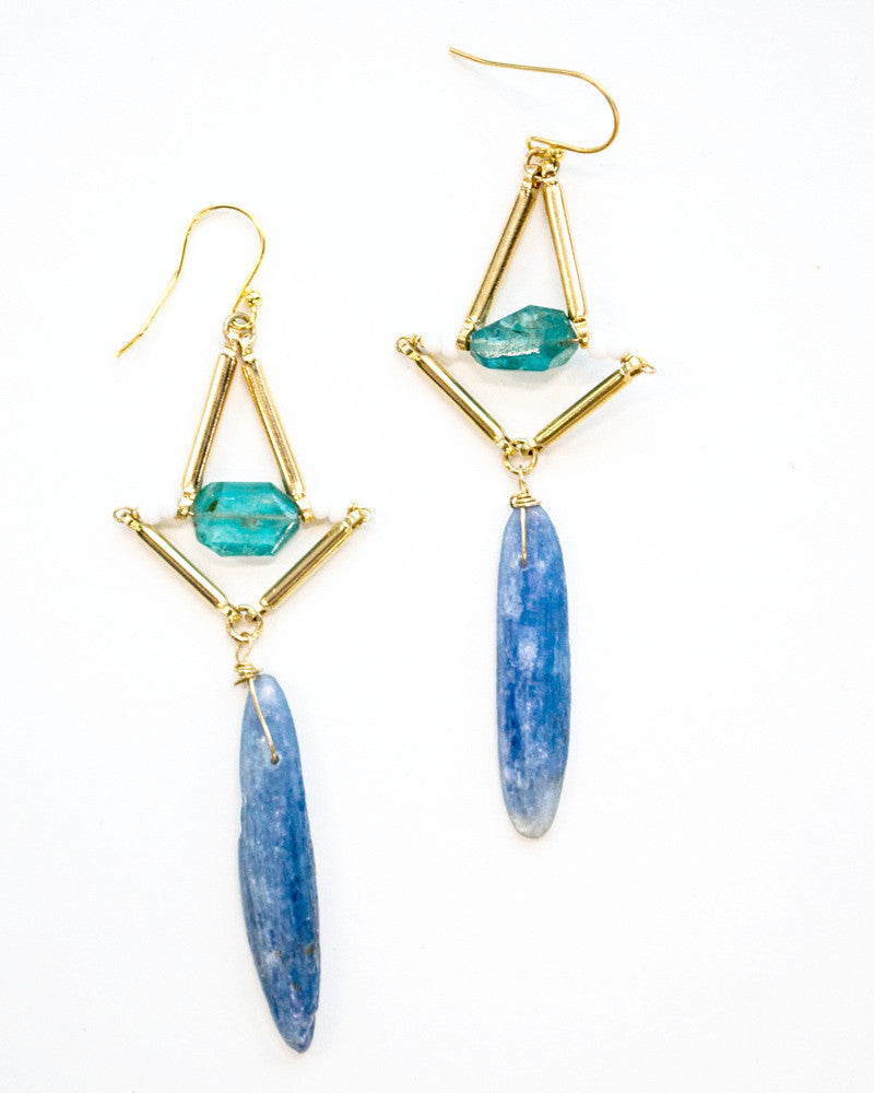 Kyanite Dangle Earrings