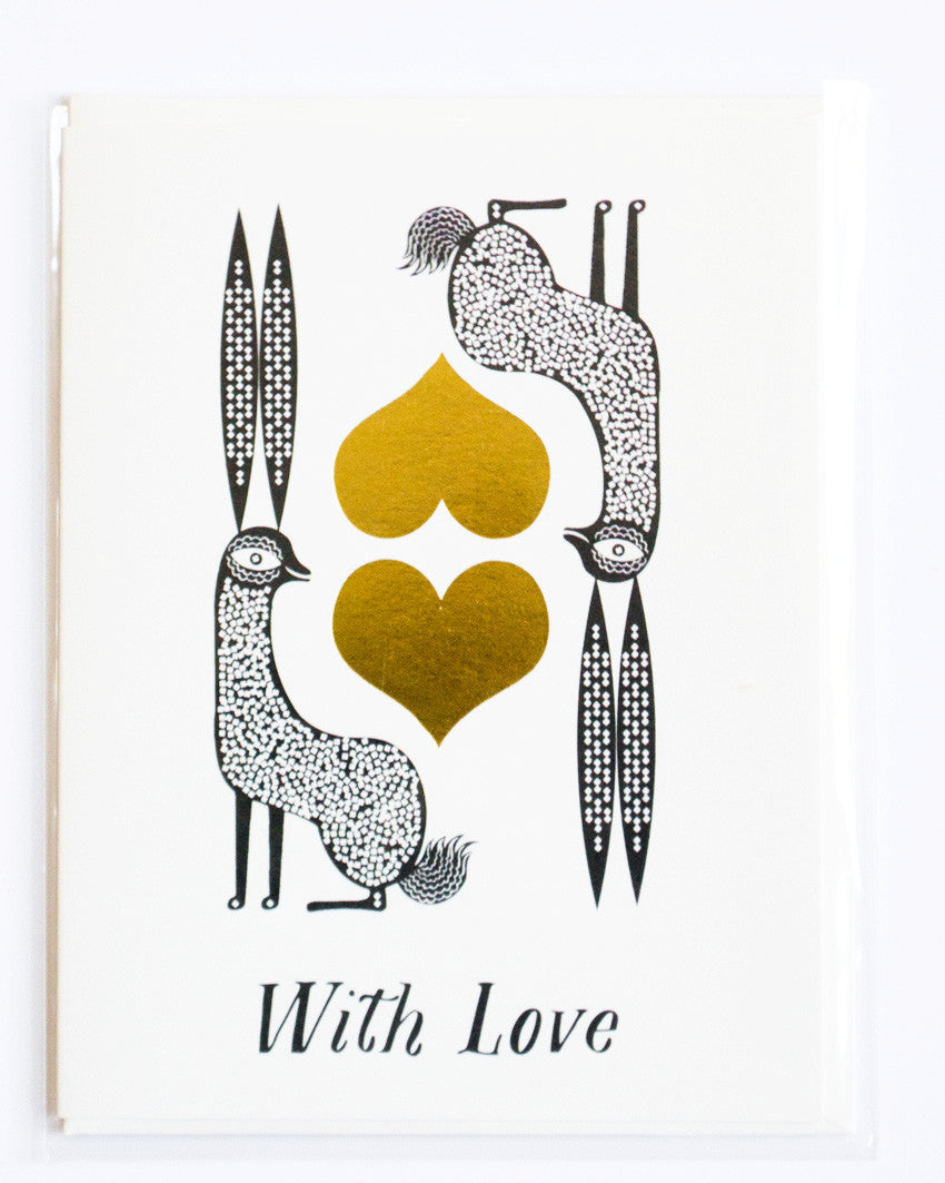 With Love Rabbits Card