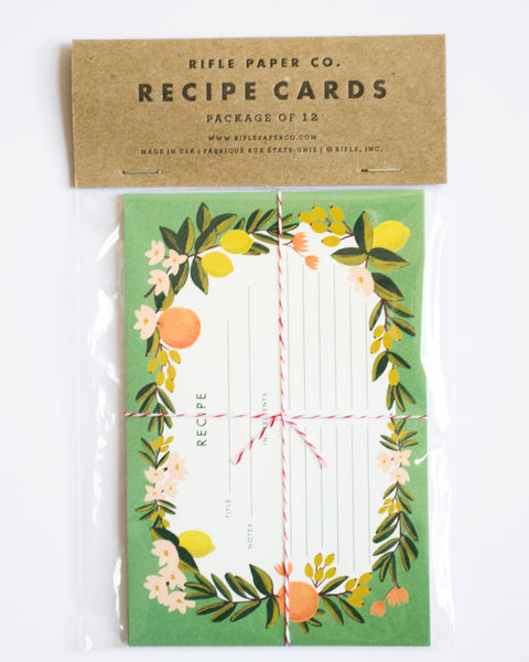 Citrus Recipe Card Set