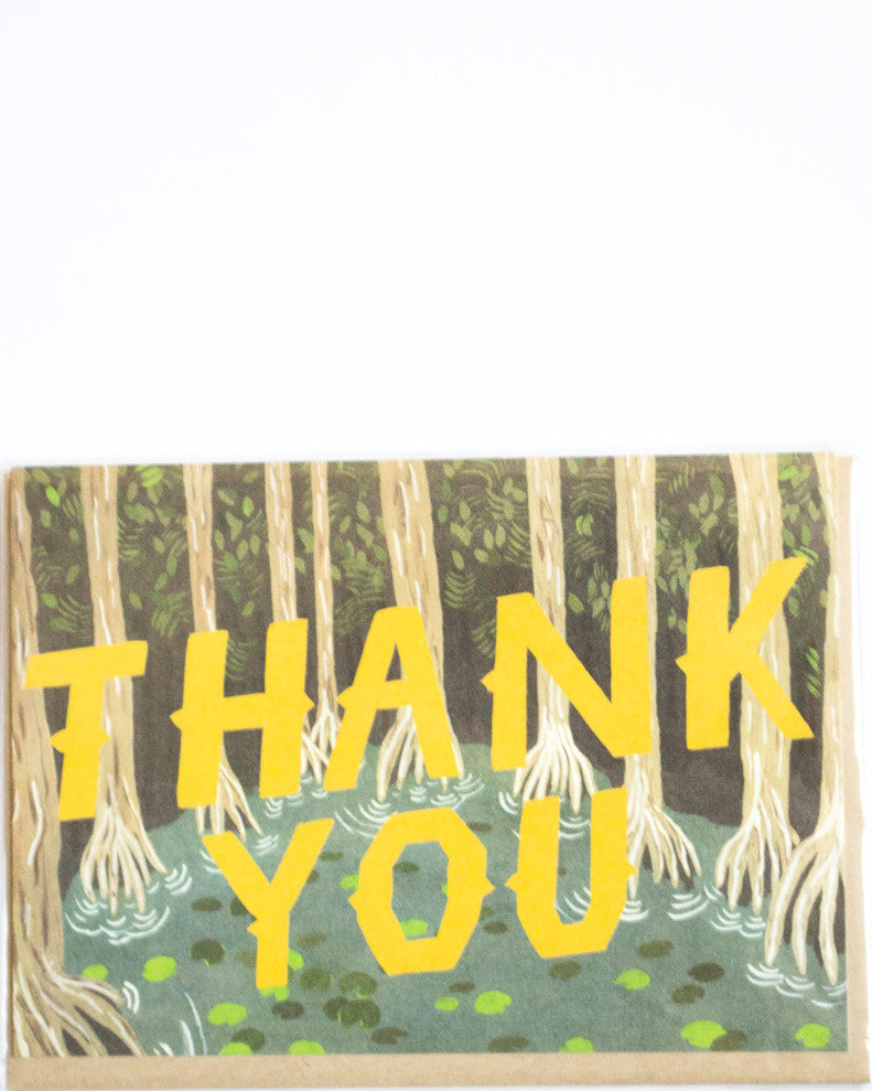 Yellow Thank You Card