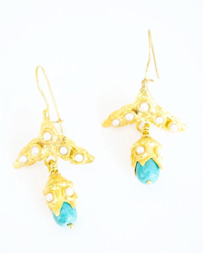Will O Wisp Turquoise Earrings