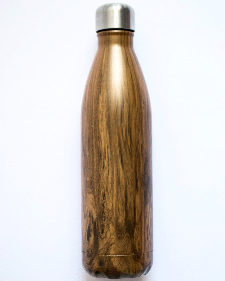 Large Wood Grain Water Bottle