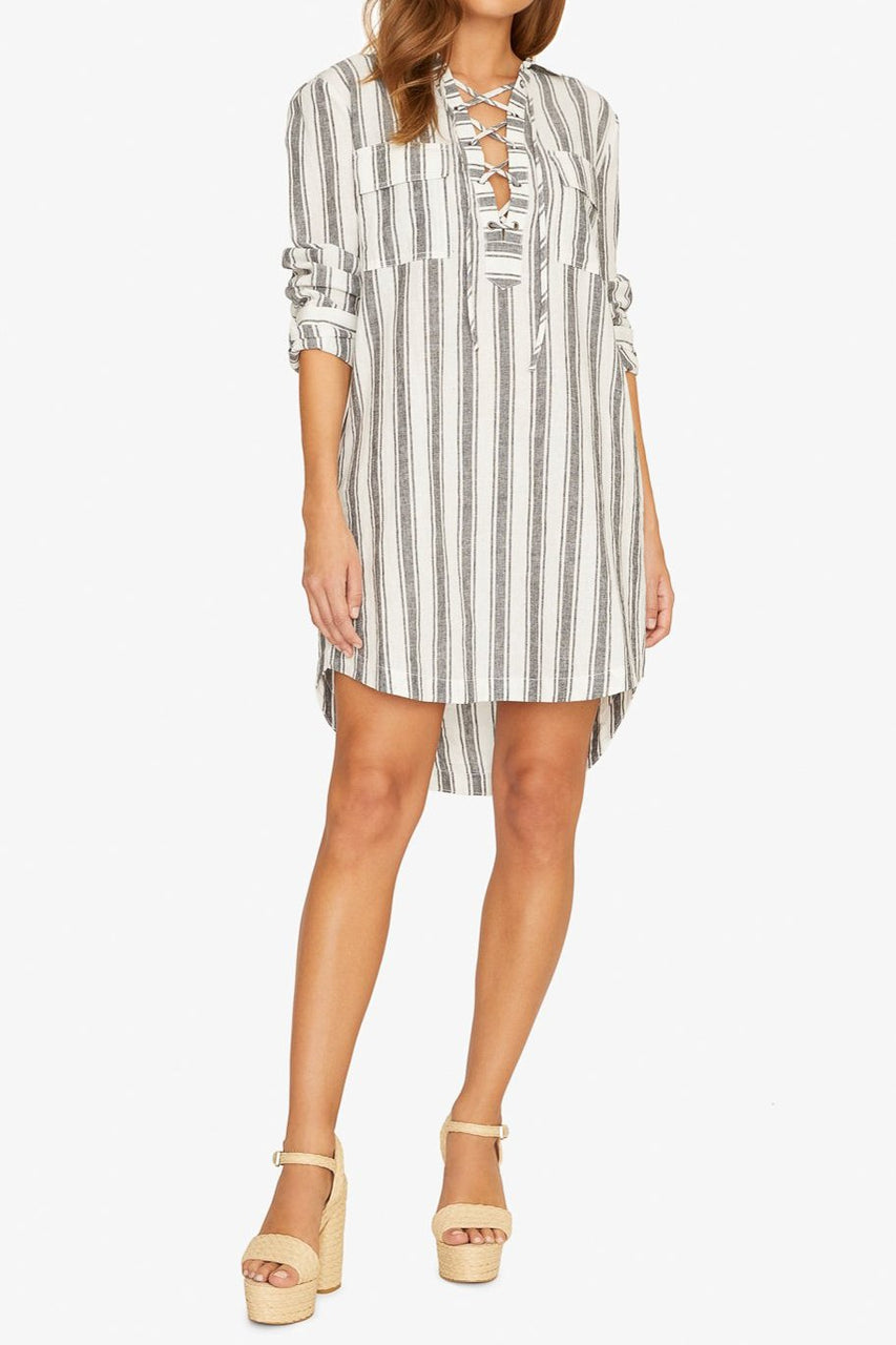 Staycation Lace Up Dress