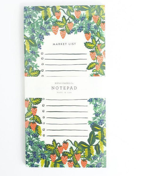Strawberry Market List Pad