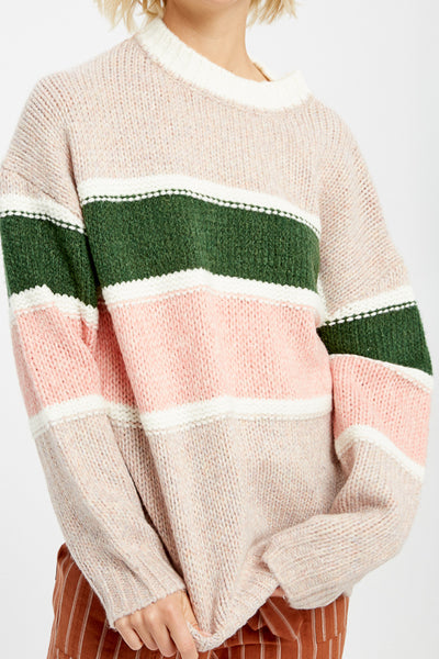 Green Pastures Stripe Sweater