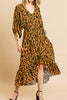 Camel Leopard Dress