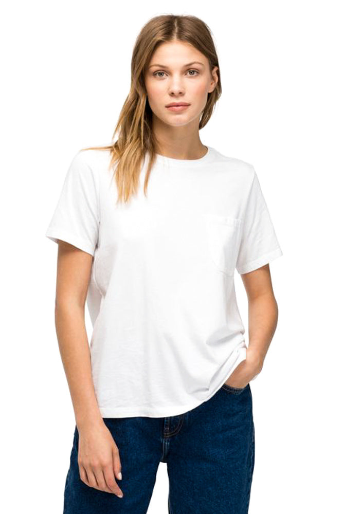 White Pocket Crew Tee