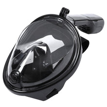 Swimming Diving Snorkeling Full Face Mask Surface Scuba for Gopro L/XL Black