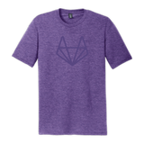 Purple-On-Purple Tanuki Box Cut Shirt