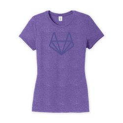 Purple-On-Purple Tanuki Women's T-Shirt