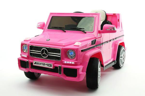 2018 Pink Mercedes Benz G65 Amg Ride On Toy Car Licensed Luxury