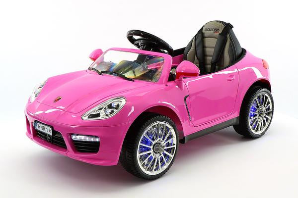 2018 Pink Porsche Boxster Ride On Toy Car Licensed Luxury Cars For