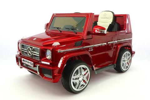 2018 Cherry Red Mercedes Benz G65 Amg Ride On Toy Car Licensed
