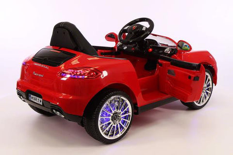 2018 Red Porsche Boxster Ride On Toy Car Licensed Luxury Cars For Kids