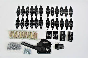 46 Piece Whiting Roll Up Door Hardware Kit w/ Lock & Keeper