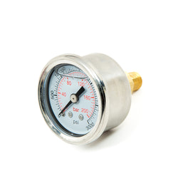 SS Liquid filled pressure gauge, 0 to 3000 PSI