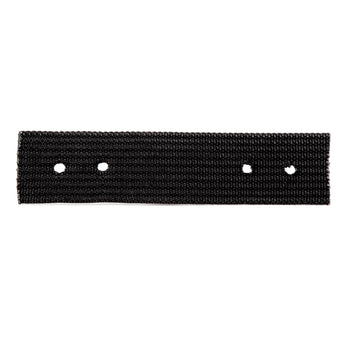 Black Roller Webbing, 8in x 2in (holes punched)