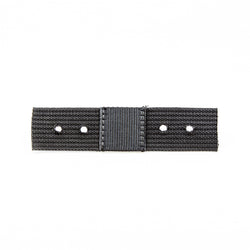 Black Roller Webbing, 8in x 2in (holes punched & double layered)