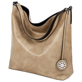 22735 Taupe Black Reversible Hobo