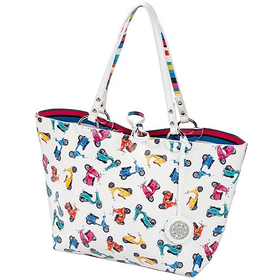 30917 White Multi Medium Tote