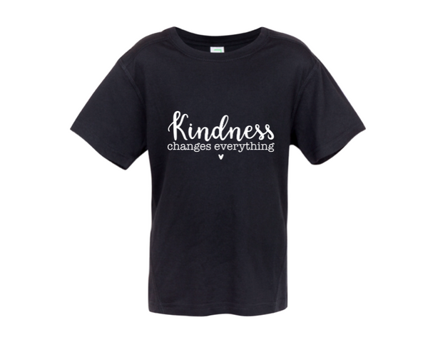 Kindness Changes Everything - Kids Short Sleeve Tee
