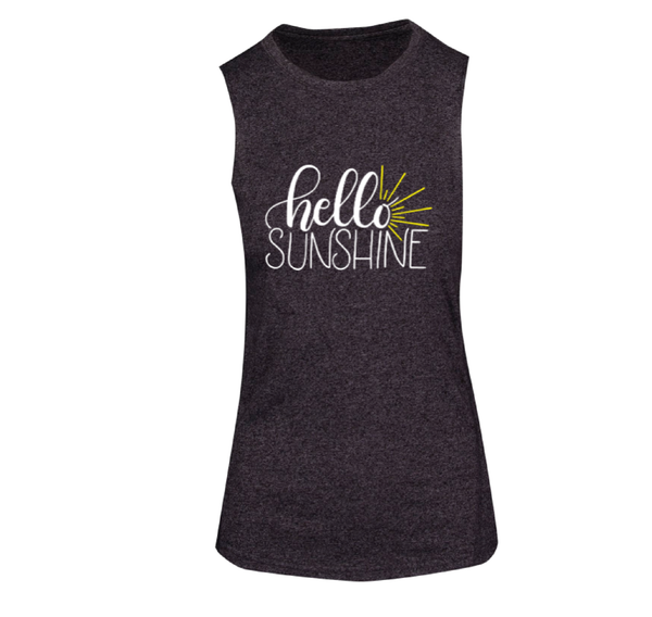Hello Sunshine - Ladies Sleeveless Tee