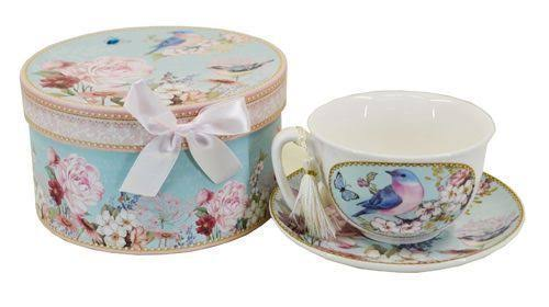 Blue Bird Teacup and Saucer - Giftboxed - RRP $18.50
