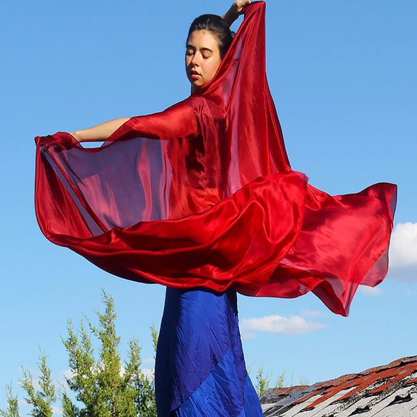 Nahari Silks 100% Hand Dyed Silk Veils Shawls Sarongs Solid Colors